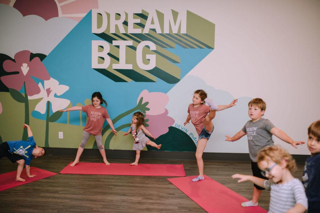 kids in a kids yoga class