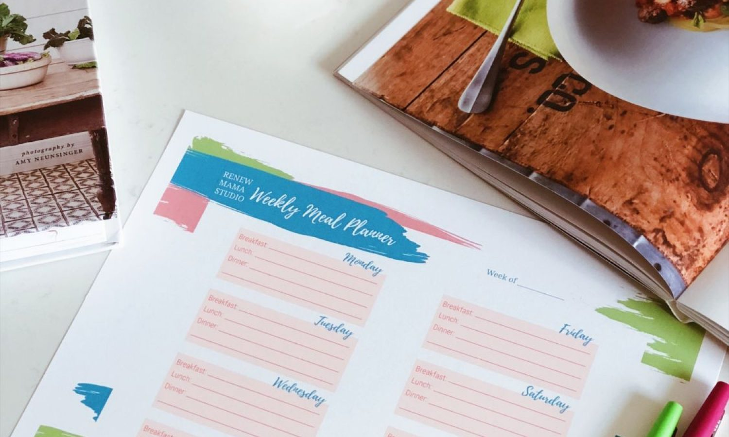 paper meal planner and recipe book